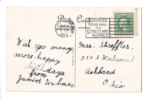 pm SLO - ADDRESS YOUR MAIL - OH 1922 Slogan or Logo cancel - E03102