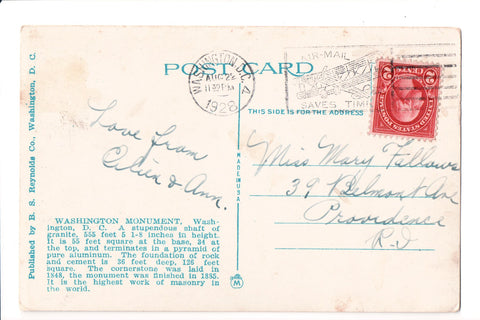 pm SLO - AIR-MAIL SAVES TIME - DC 1928 Slogan or Logo cancel - A17181