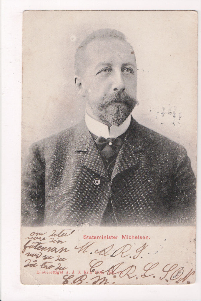 Misc Military - Statminister Michelson - Eneberettiget A J J Kr a 1905 - E10439