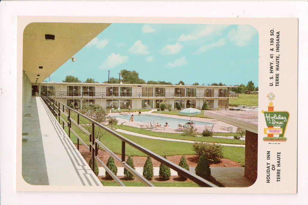 IN Terre Haute - HOLIDAY INN postcard - US 41 and 150 South - w02042