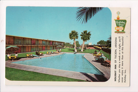AZ, Tucson - HOLIDAY INN postcard - 1010 S Freeway at 20th St - w02051