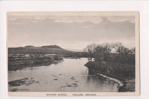 NV, Fallon - Winter Scene - C B Ferguson postcard - w02638