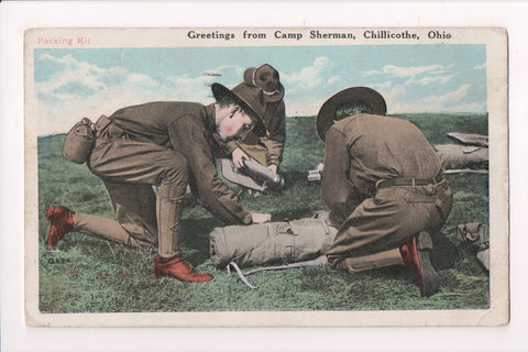 OH, Chillicothe - Greetings from Camp Sherman - @1918 postcard - w03875