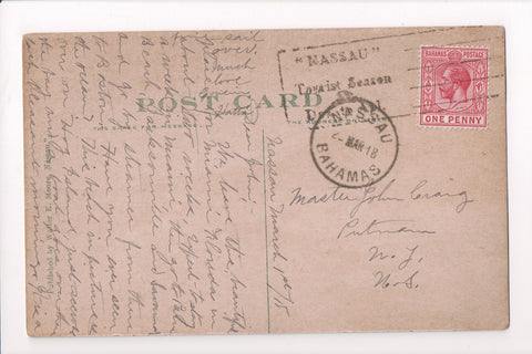 cancel Foreign - Slogan - Bahama - Nassau Tourist Season - 1918 cancel - w05223