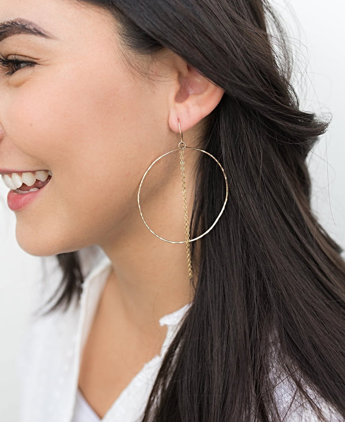 'Ella' Hoop Earrings