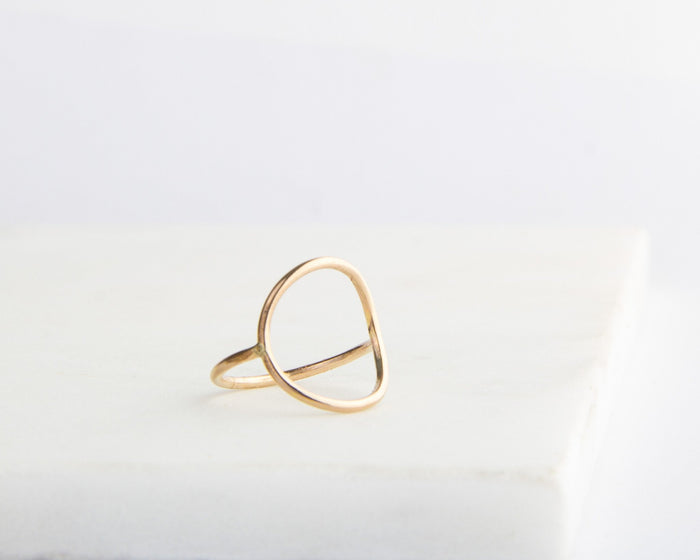 open circle ring gold filled