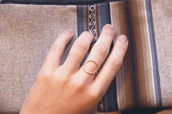 gold circle ring modeled