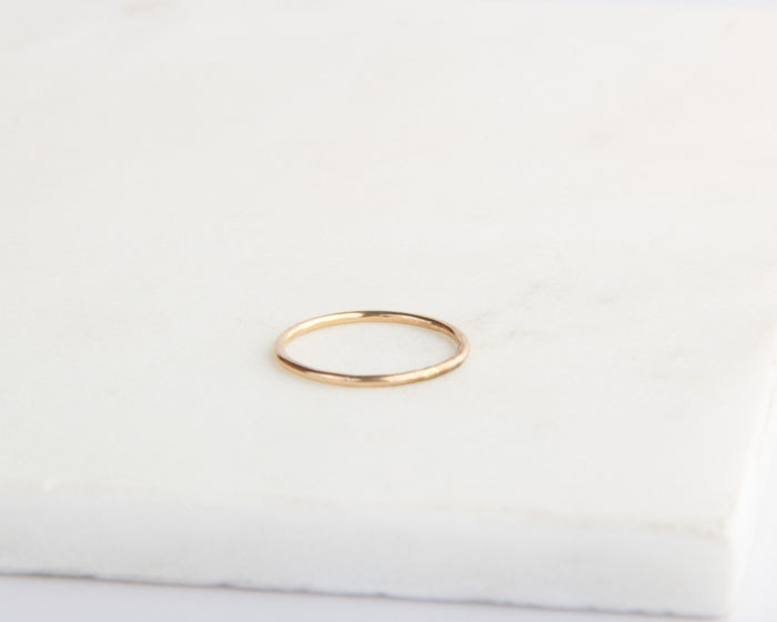 simple gold band pixley pressed
