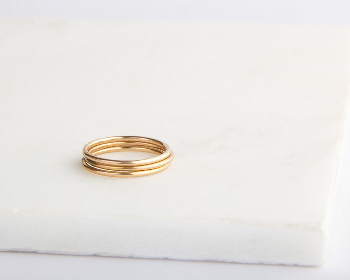 gold stacking rings pixley pressed