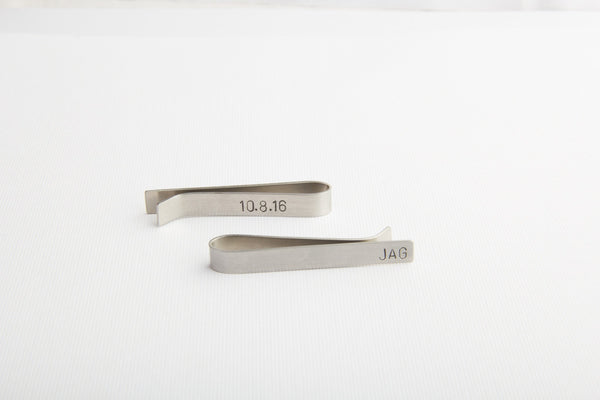 double sided stamping tie clip