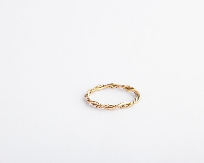 twisted vine ring gold filled pixley pressed