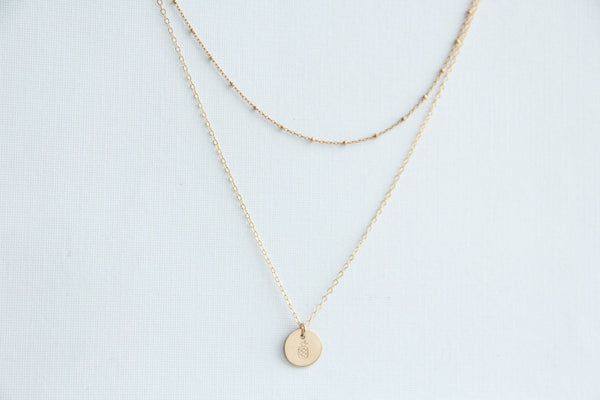 gold satellite choker pineapple necklace pixley pressed