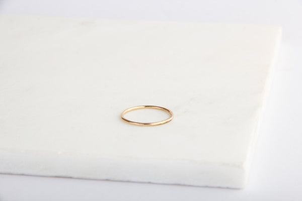 gold filled plain band pixley pressed