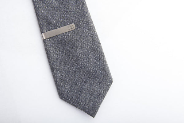 stainless steel tie clip personalized pixley pressed