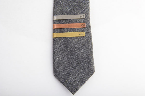 standard personalized tie clips