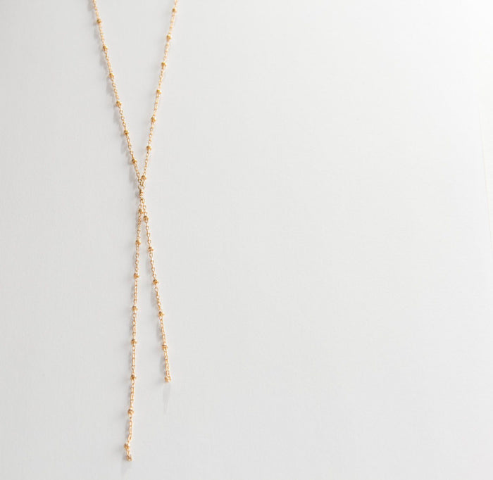 y or lariat satellite necklace