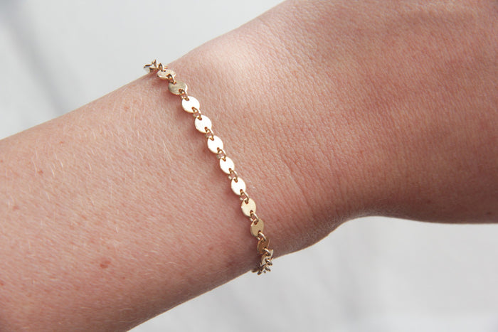 gold sequin bracelet pixley pressed