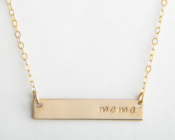 mama bar necklace pixley pressed