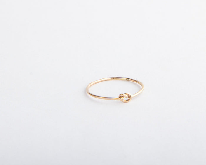 little gold knot ring pixley pressed