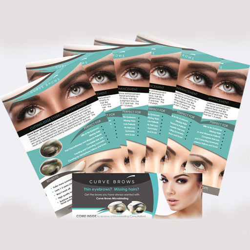 EYEBROW PRINTED & MARKETING MATERIAL