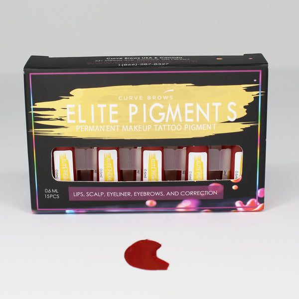 ELITE PMU MACHINE PIGMENT CHERRY RED 0.6ML (15 PIECES)