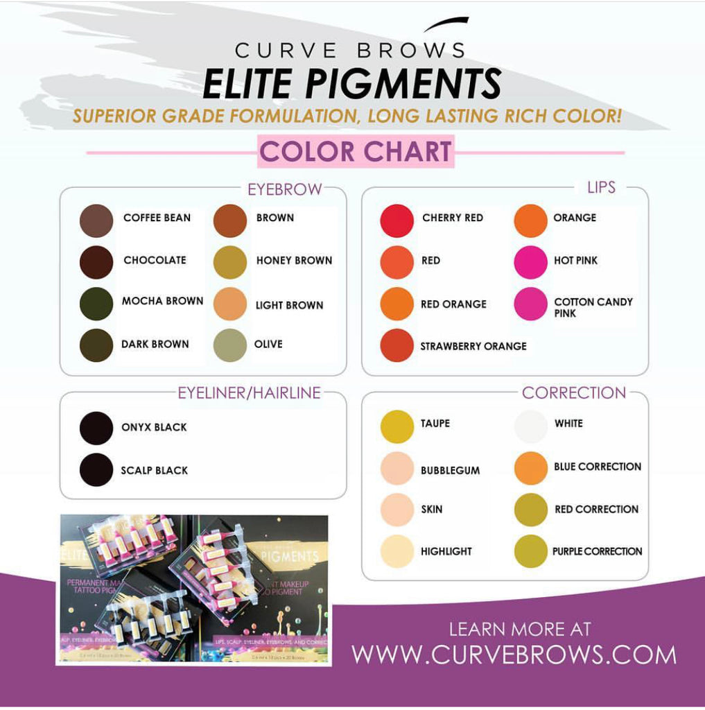ELITE PMU MANUAL PIGMENT MOCHA BROWN 10ML
