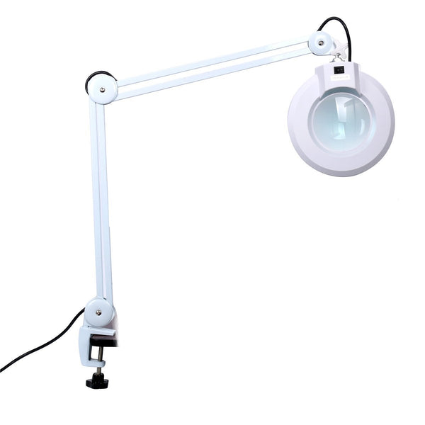 "ADJUSTABLE MAGNIFYING LAMP MAGNIFIER LIGHT 110V 22W 5"" LENS"