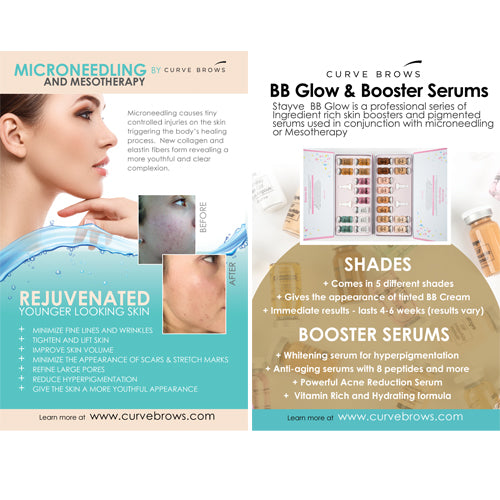 MICRONEEDLING AND BB GLOW FLYERS