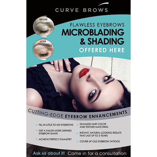 "MICROBLADING AND SHADING EXTRA LARGE POSTER (36""X52"")"