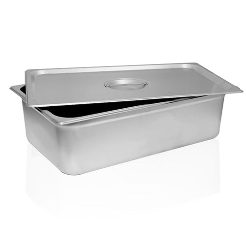 STAINLESS STEEL STERILIZATION TRAY WITH LID