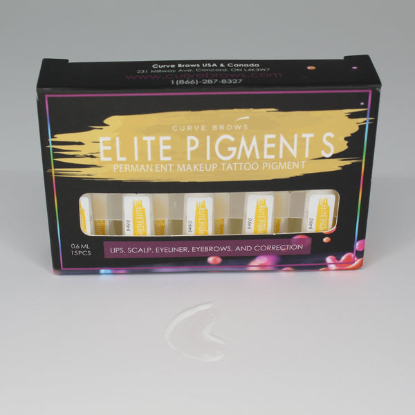 ELITE PMU MACHINE PIGMENT WHITE 0.6ML (15 PIECES)