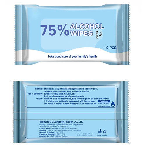 ALCOHOL WIPES (10 PIECES)  ***PRE-ORDER***