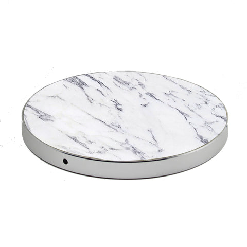 LuxeTech Wireless Pad - White Marble