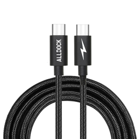 Extra Long Apple USB-C to C-Type PD 160cm Cable Black