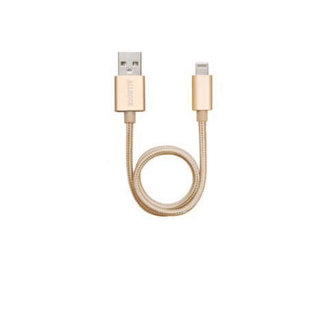 Apple Mfi 30cm Cable Gold