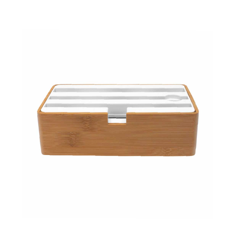 D Dock Bamboo & White