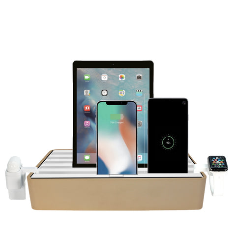 ALLDOCK Classic FAMILY Alu Gold & White Package