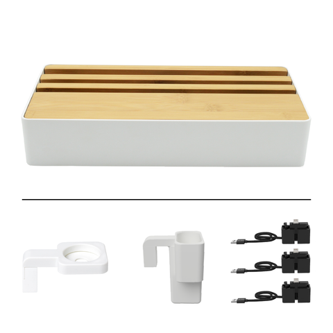 HybridX Wireless Large White & Bamboo Apple Package