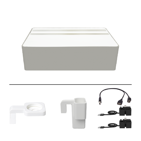 ALLDOCK Wireless Aluminium Silver & White Package