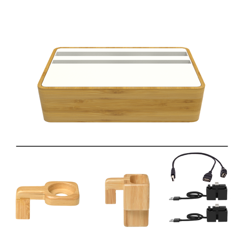 HybridX Wireless Compact Bamboo & White Apple Package
