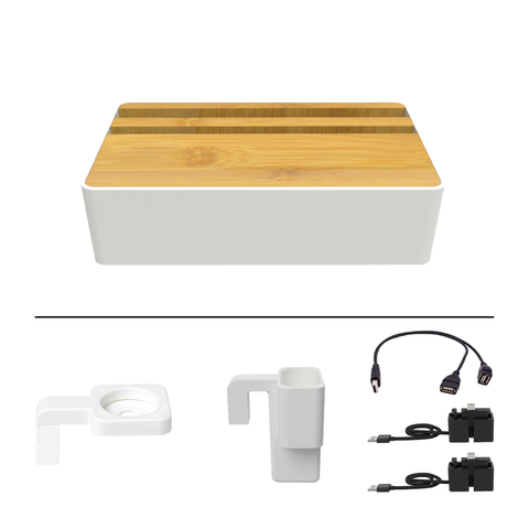 HybridX Wireless White & Bamboo Apple Package