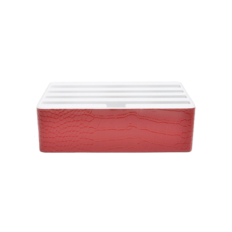 ALLDOCK Classic Crocodile Leather Red & White (S&D)