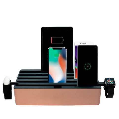 ALLDOCK Classic FAMILY Aluminium Rose Gold & Black Package