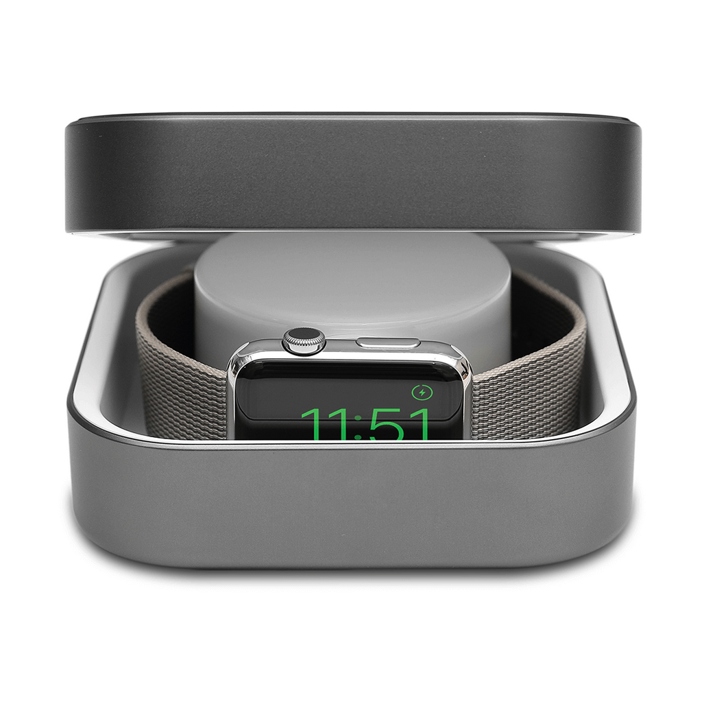 Amber Apple Watch Case & Powerbank Space Gray