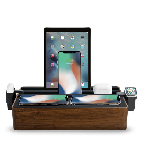 ALLDOCK Wireless Family Walnut & Black Package