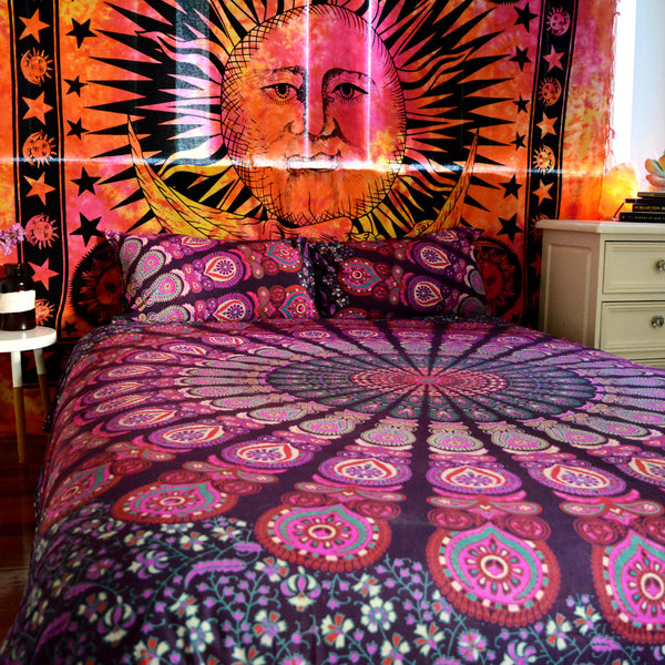 Deep Purple Mandala | Doona & Pillow Set