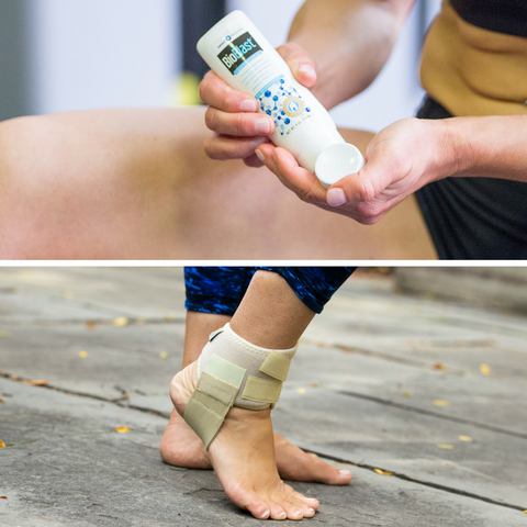 Bundle Pack: Heelaway Sport Brace and BioBlast 6-Hour Pain Gel