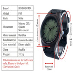 Wood Face High-Quality Leather Watch