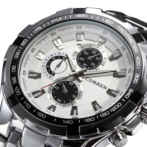 Full Stainless Steel Military Watch