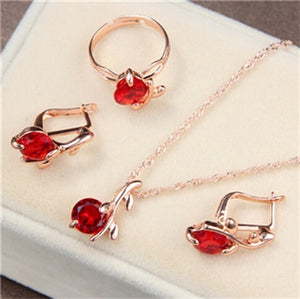 Colorful Crystal Jewelry Set